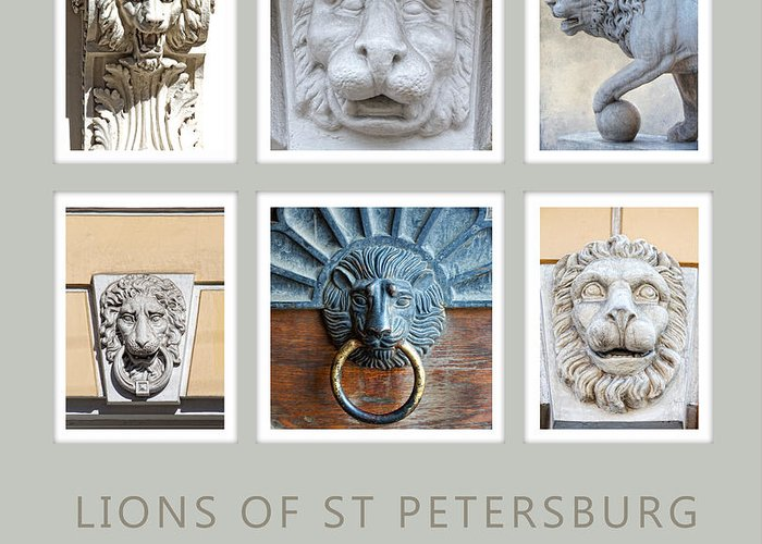 Lion Greeting Card featuring the photograph Lions Of St Petersburg by Elena Nosyreva