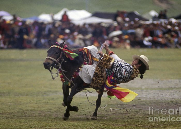Adventure Greeting Card featuring the photograph Litang Horse Festival - Kham Tibet by Craig Lovell