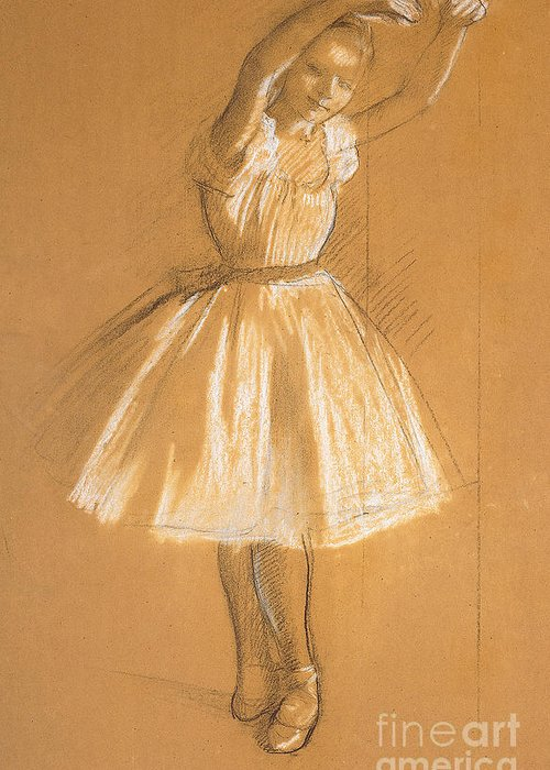 Petite Danseuse Greeting Card featuring the drawing Little Dancer by Edgar Degas