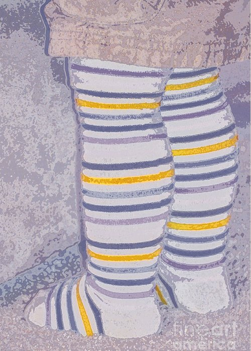Little Greeting Card featuring the photograph Little Feet-yellow by Molly McPherson