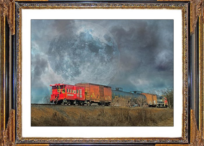 Caboose Mixed Media Greeting Cards