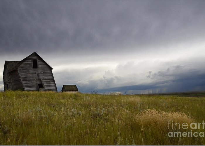 Homestead Greeting Card featuring the photograph Little Remains by Bob Christopher