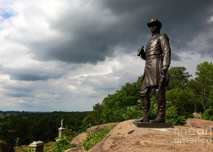 Gettysburg Greeting Card featuring the photograph Little Round Top Hill Gettysburg by James Brunker