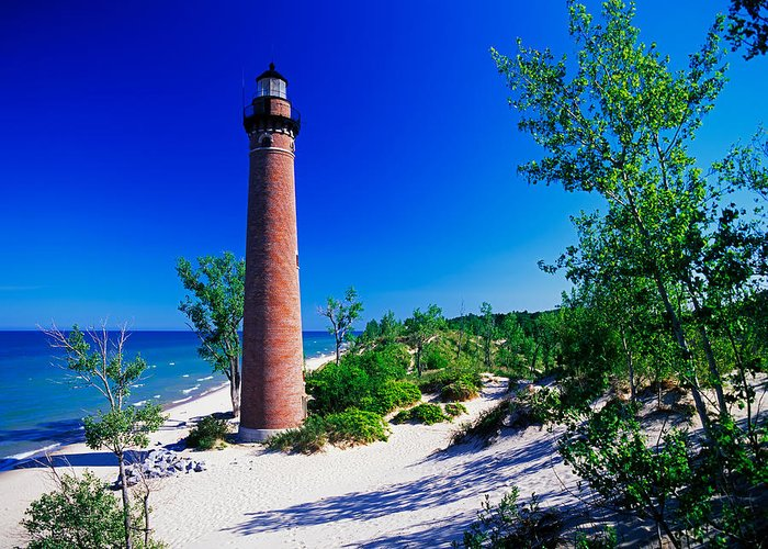 Great Lake Lighthouses Greeting Card featuring the photograph Little Sable Lighthouse by David Davis