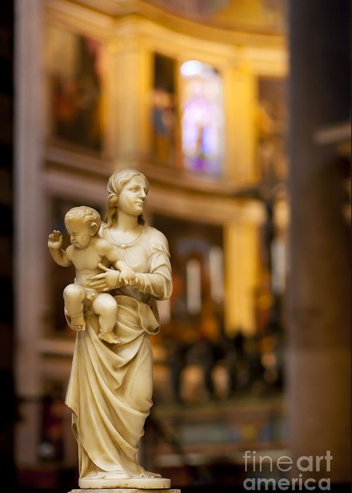 Mother Mary Greeting Card featuring the photograph Little Statue by Brian Jannsen