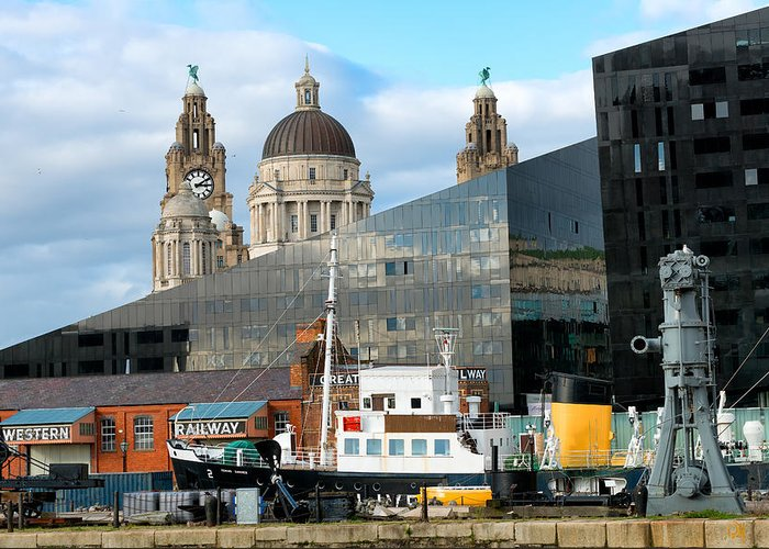 Liverpool Greeting Card featuring the photograph Liverpool Docklands by Stephen Jones