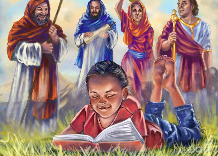 Christian Art Greeting Card featuring the digital art Living Bible by Tamer and Cindy Elsharouni