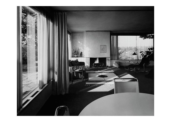 Home Greeting Card featuring the photograph Living Room In Mr. And Mrs. Walter Gropius' House by Robert M. Damora
