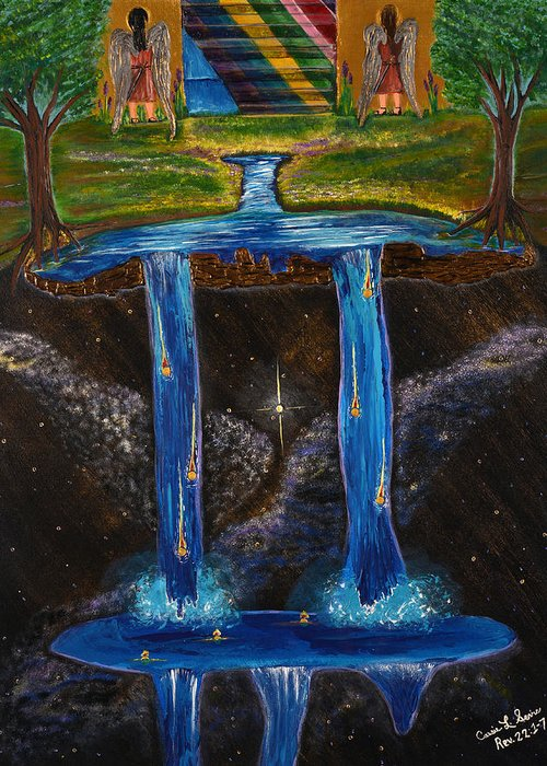 Art-by-cassie Sears Greeting Card featuring the painting Living Water by Cassie Sears