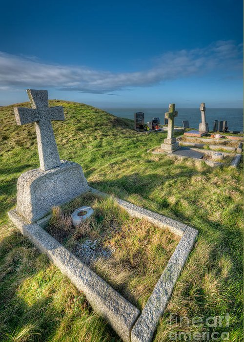 Anglesey Greeting Card featuring the photograph Llanbadrig Cemetery by Adrian Evans