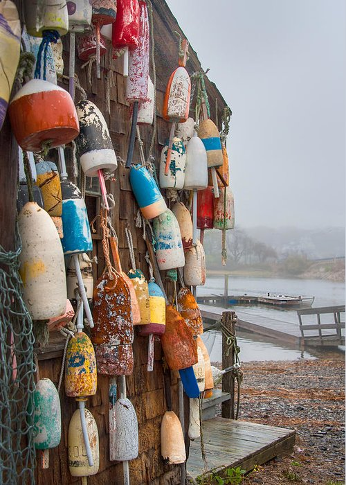 Lobster Buoys Greeting Card featuring the photograph Lobster Buoys by Gloria Matyszyk