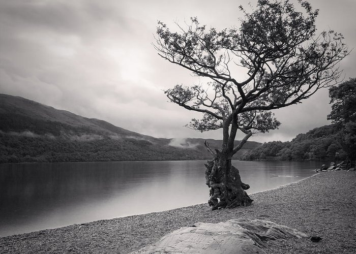 Black & White Greeting Card featuring the photograph Loch Lomond Scotland by Colin and Linda McKie