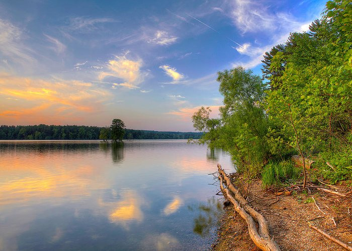 Loch Raven Reservoir Greeting Card featuring the photograph Loch Raven Sunset Series B by Mike Keller