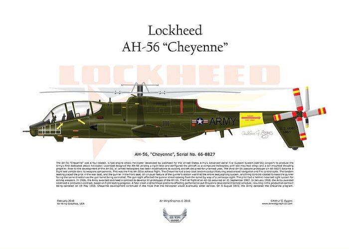 Lockheed Greeting Card featuring the digital art Lockheed Ah-56 Cheyenne by Arthur Eggers