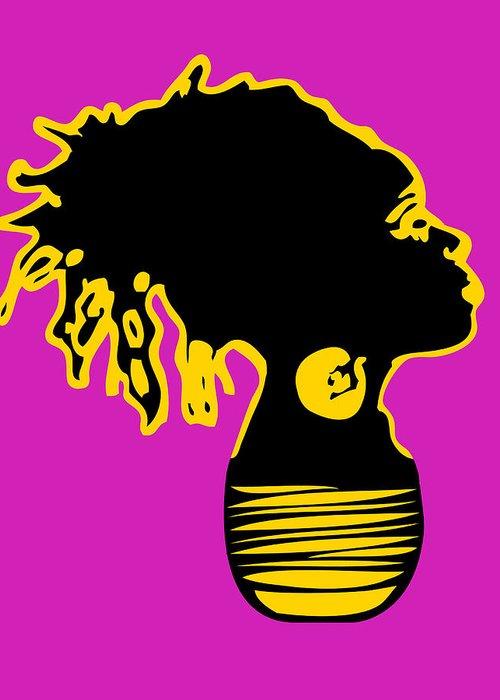African Greeting Card featuring the digital art Locks Of Light 2 by Duwayne Washington