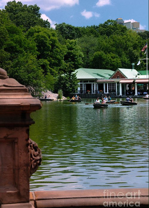 Boat Greeting Card featuring the photograph Loeb Boathouse Central Park by Amy Cicconi