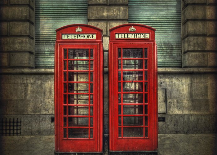 Phone Greeting Card featuring the photograph London Calling by Evelina Kremsdorf