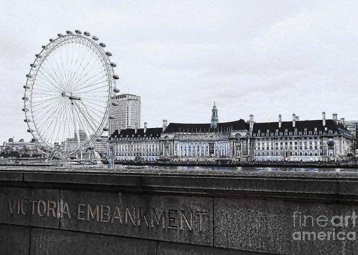 London Eye Millennium Pier Greeting Cards