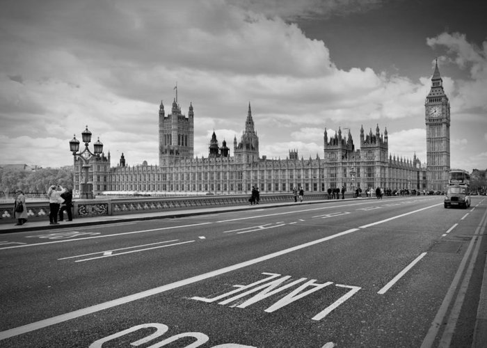 British Greeting Card featuring the photograph London - Houses Of Parliament by Melanie Viola
