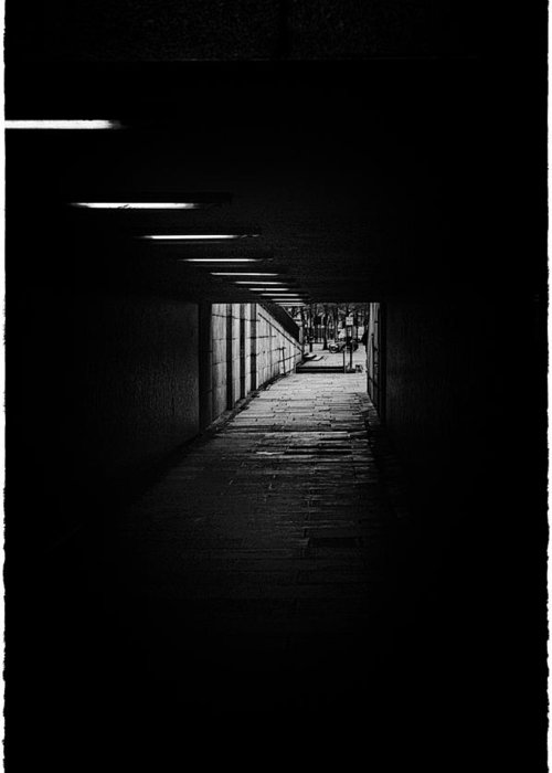 Bridge Greeting Card featuring the photograph London Tunels 1 by Lenny Carter