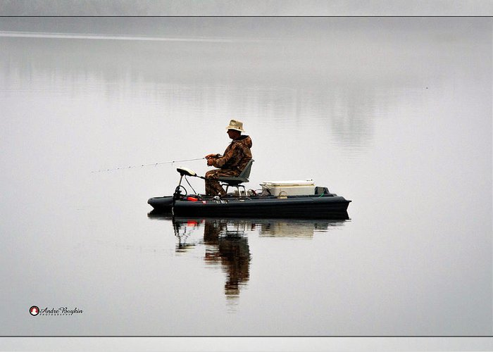 Greeting Card featuring the photograph Lone Fisherman by Andre Boykin