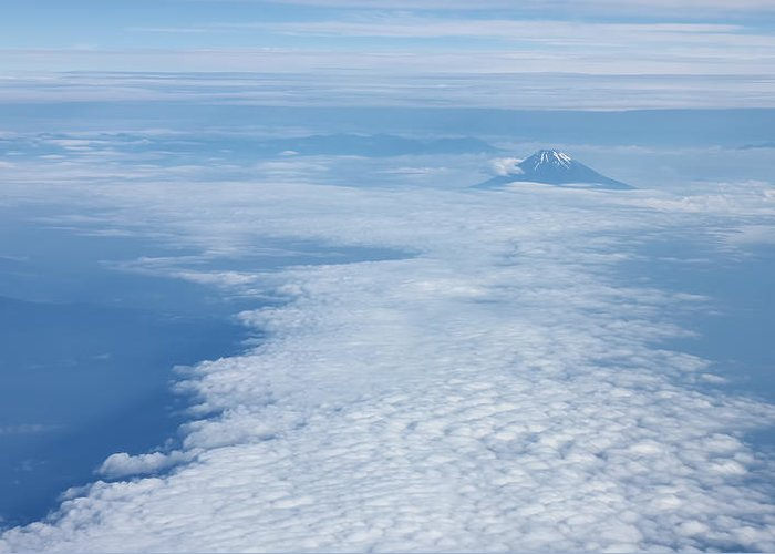Fuji Mountain Greeting Card featuring the photograph Lonely Mountain by Arif Hidayat