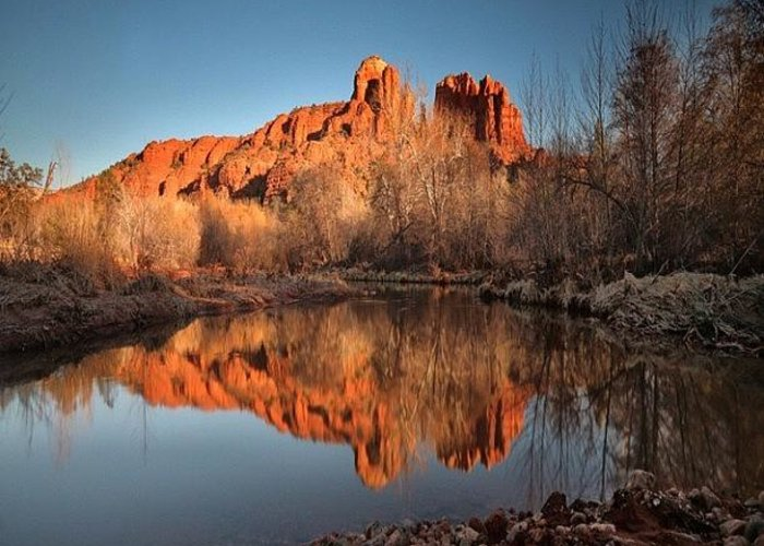 Greeting Card featuring the photograph Long Exposure Photo Of Sedona by Larry Marshall