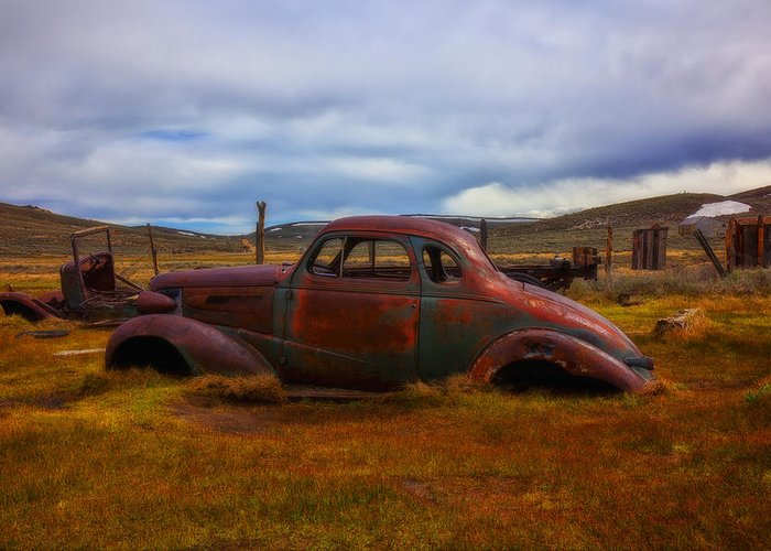 Car Greeting Card featuring the photograph Long Forgotten by Garry Gay