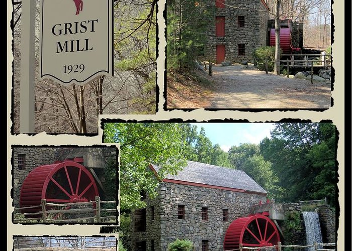 Landscape Greeting Card featuring the photograph Longfellow's Grist Mill by Patricia Urato