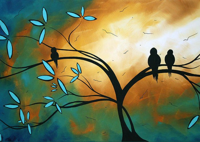 Art Greeting Card featuring the painting Longing By Madart by Megan Duncanson