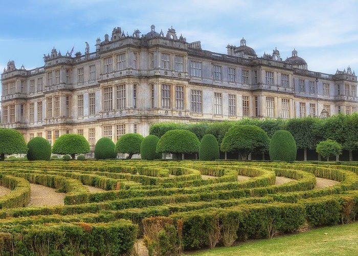 Longleat House Greeting Card featuring the photograph Longleat House - Wiltshire by Joana Kruse