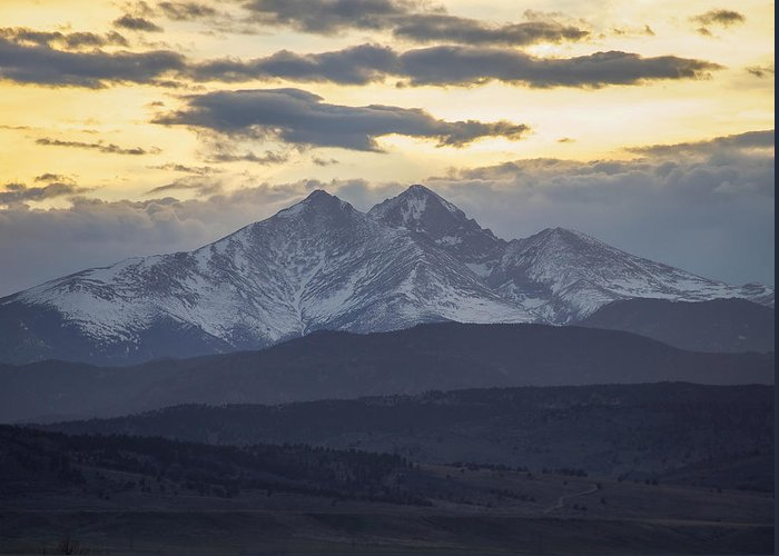 Longs Greeting Card featuring the photograph Longs Peak 3 by Aaron Spong