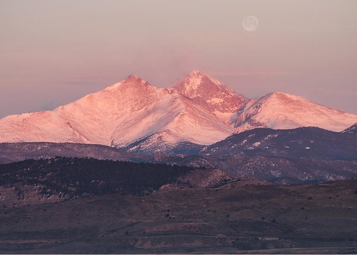 Longs Greeting Card featuring the photograph Longs Peak 4 by Aaron Spong
