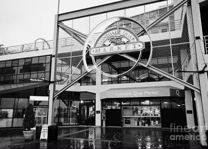 Lonsdale Greeting Card featuring the photograph lonsdale quay market shopping mall north Vancouver BC Canada by Joe Fox
