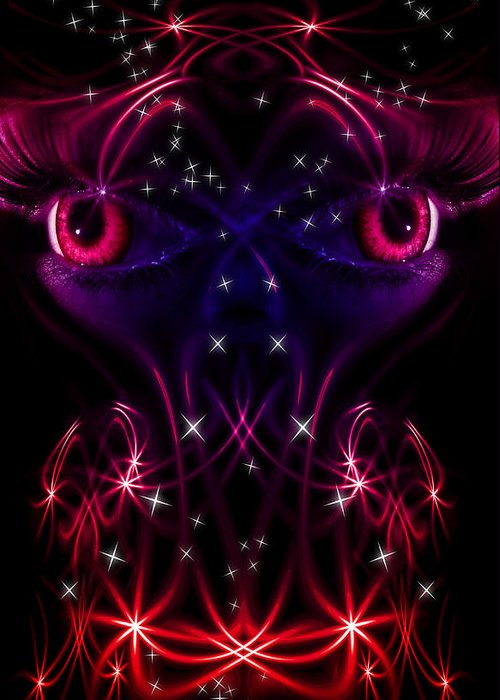 Close Up Greeting Card featuring the digital art Look Into My Eyes by Nathan Wright