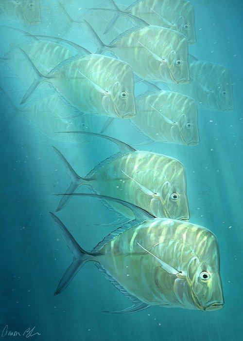 Tropical Fish Digital Art Greeting Cards