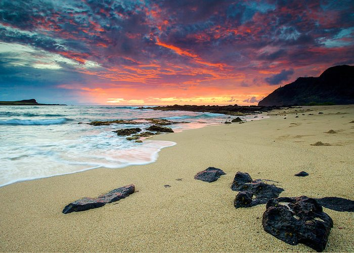 Hawaii Greeting Card featuring the photograph Looking East by Robert Aycock