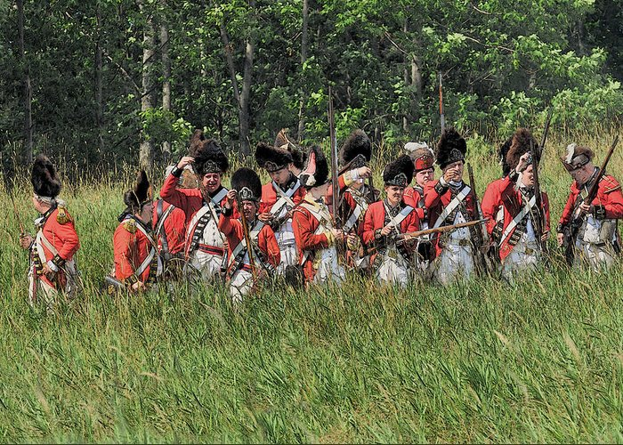 Revolutionary War Greeting Card featuring the photograph Looking For Support by William Coffey