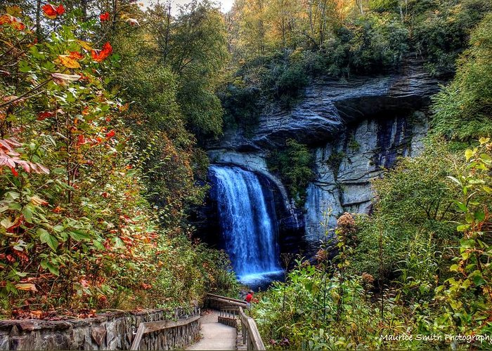 Landscape Greeting Card featuring the photograph Looking Glass Falls #2 by Maurice Smith