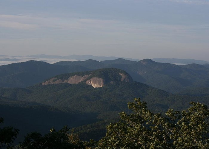 North Carolina Greeting Card featuring the photograph Looking Glass Mountain by Stacy C Bottoms
