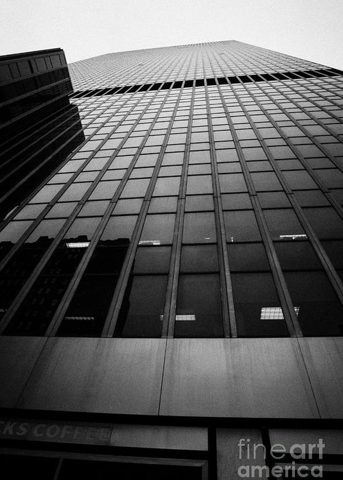 Usa Greeting Card featuring the photograph Looking Up At 1 Penn Plaza On 34th Street New York City Usa by Joe Fox