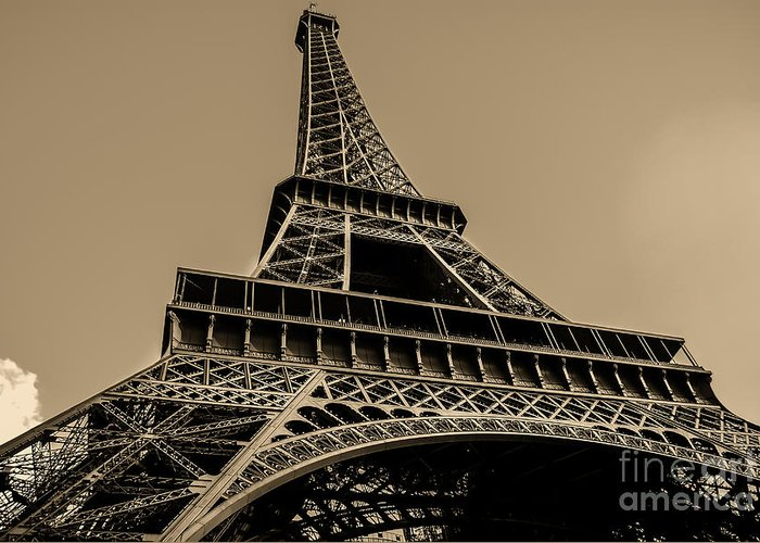 Paris Greeting Card featuring the photograph Looking Up At Eiffel by Remi D Photography