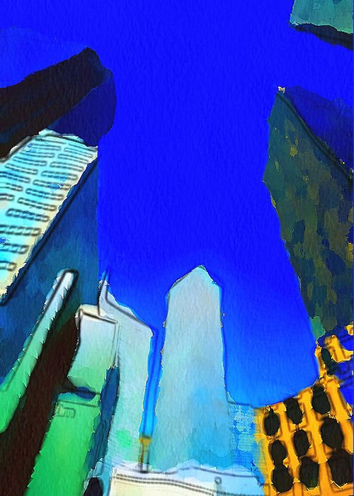 New Greeting Card featuring the digital art Looking Up by Yury Malkov