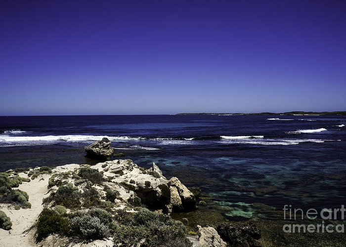 Sea Greeting Card featuring the photograph Lookout by Christine Blazquez