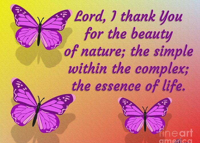 Lord I Thank You For The Beauty Of Nature Greeting Card featuring the digital art Lord I Thank You for the Beauty of Nature by Pharris Art