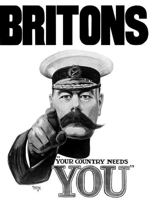 Wwi Greeting Card Featuring The Painting Lord Kitchener Britons Your Country Needs You By War