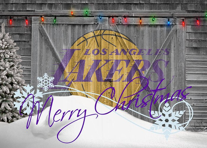 Lakers Greeting Card featuring the photograph Los Angeles Lakers by Joe Hamilton