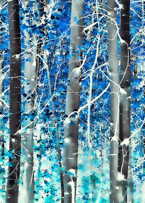 Aspens Greeting Card featuring the photograph Lost In A Dream by Don Schwartz