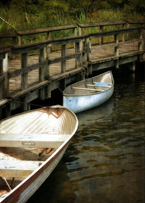 Canoe Greeting Card featuring the photograph Lost Lake Boardwalk by Michelle Calkins