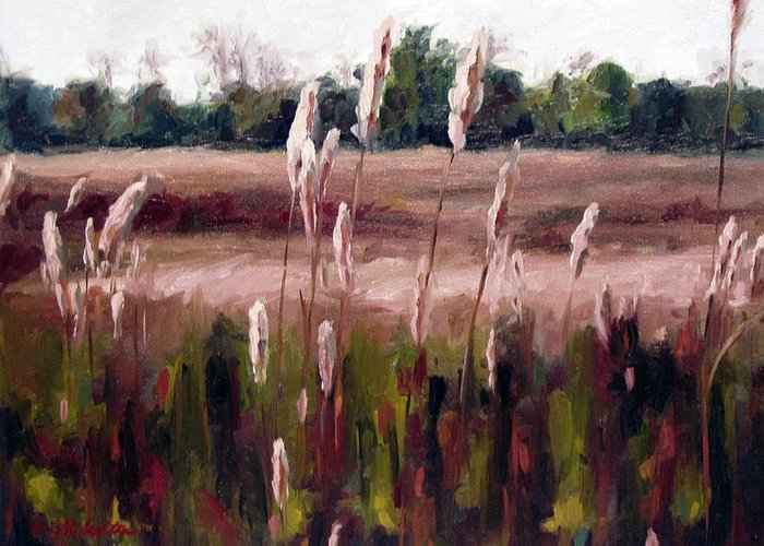 Natchez Trace Parkway Greeting Card featuring the painting Lost On The Trail At Chickasaw Meadow by Erin Rickelton